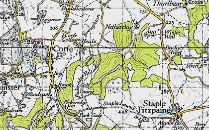 Old map of Lime Ridge Wood in 1946