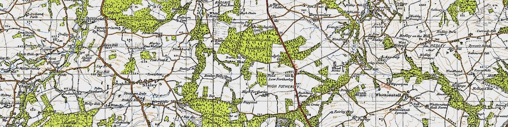 Old map of Healey in 1947