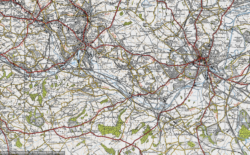 Old Map of Healey, 1947 in 1947