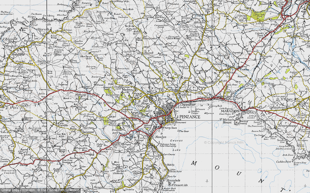 Old Map of Heamoor, 1946 in 1946