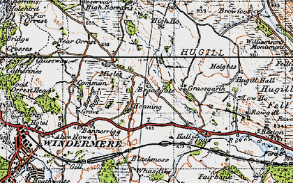 Old map of Banner Rigg in 1947