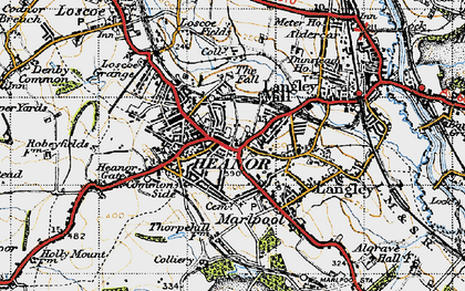 Old map of Heanor in 1946