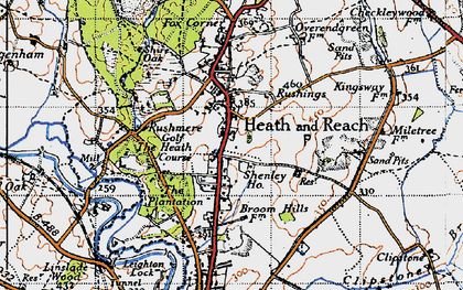 Old map of Heath and Reach in 1946