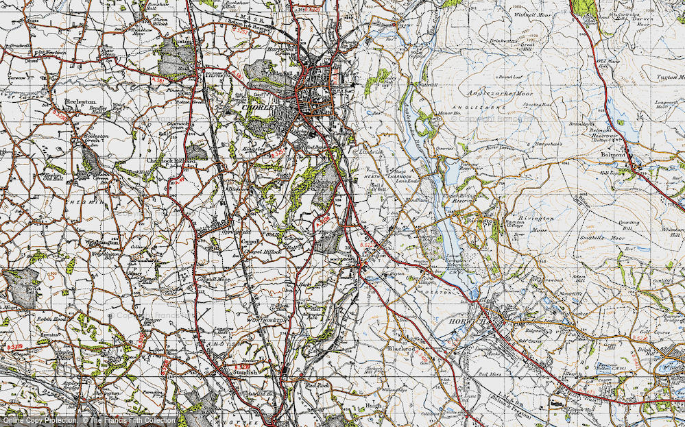Old Map of Heath Charnock, 1947 in 1947