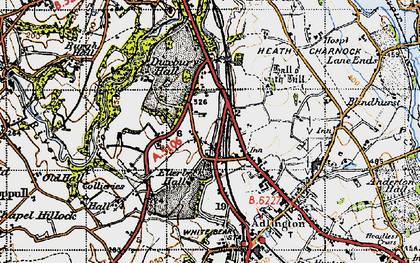 Old map of Heath Charnock in 1947