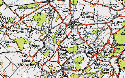 Old map of Woolton House Stud in 1945
