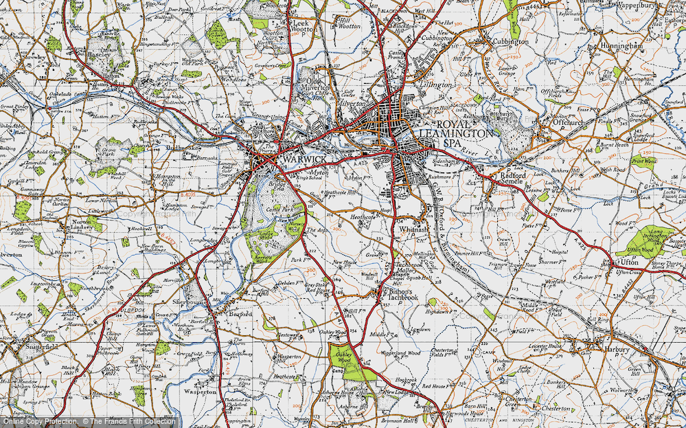 Old Map of Historic Map covering Asps, The in 1946