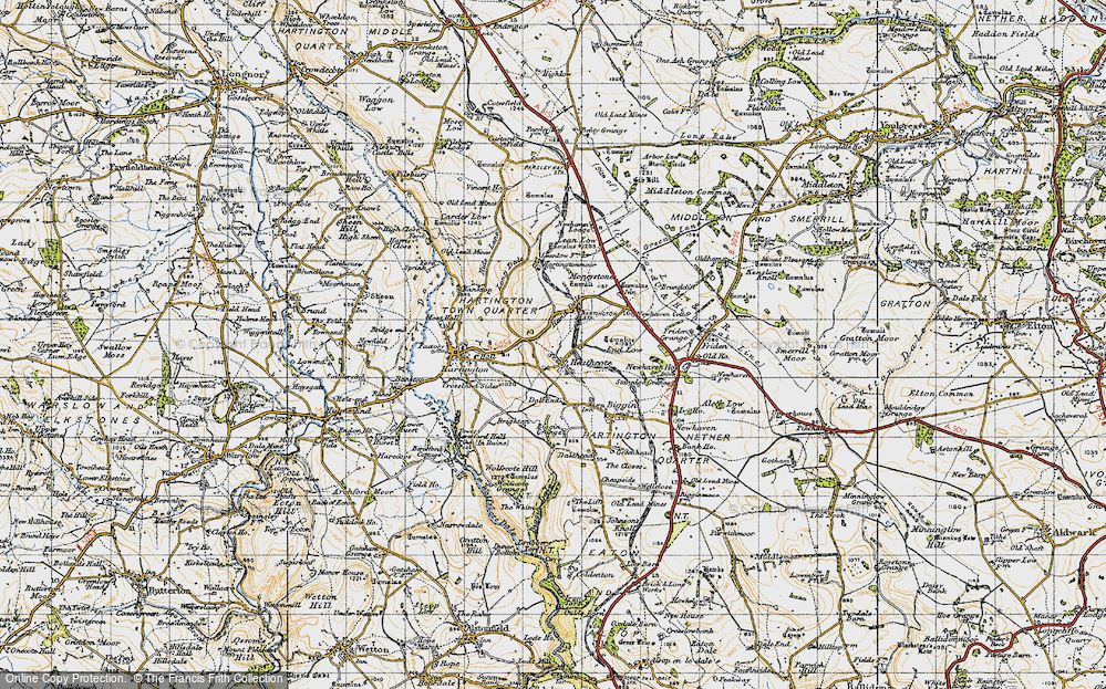 Old Map of Historic Map covering Lean Low in 1947
