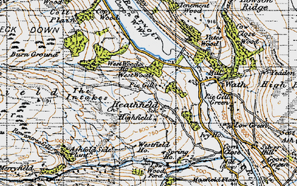Old map of West Wood Ho in 1947