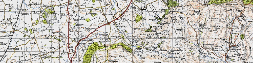 Old map of Whorlton Ho in 1947