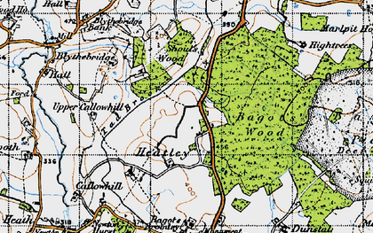 Old map of Bagot Forest in 1946