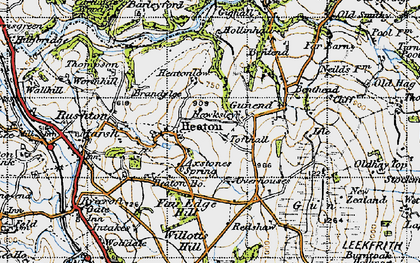 Old map of Willott's Hill in 1947