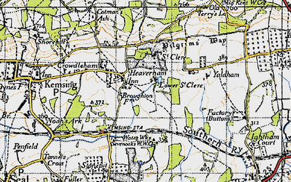 Old map of Yaldham Manor in 1946