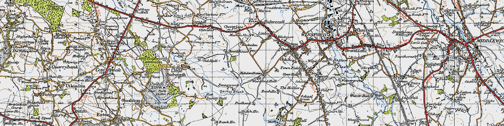 Old map of Woodford Hall in 1947