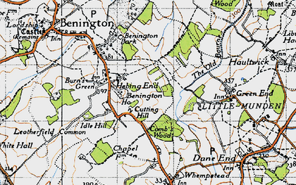 Old map of Hebing End in 1946