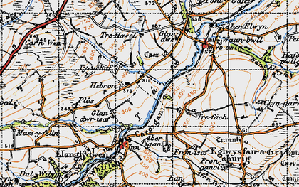 Old map of Hebron in 1946