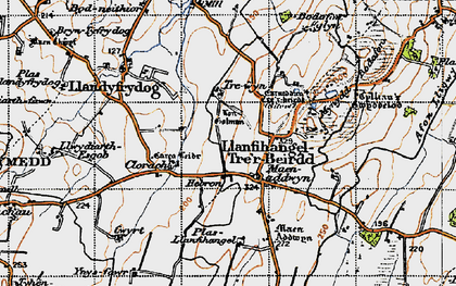 Old map of Hebron in 1947