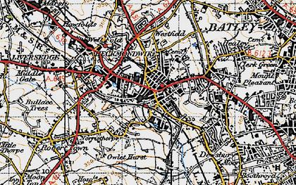 Old map of Heckmondwike in 1947