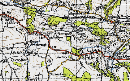 Old map of Leary Moors in 1946