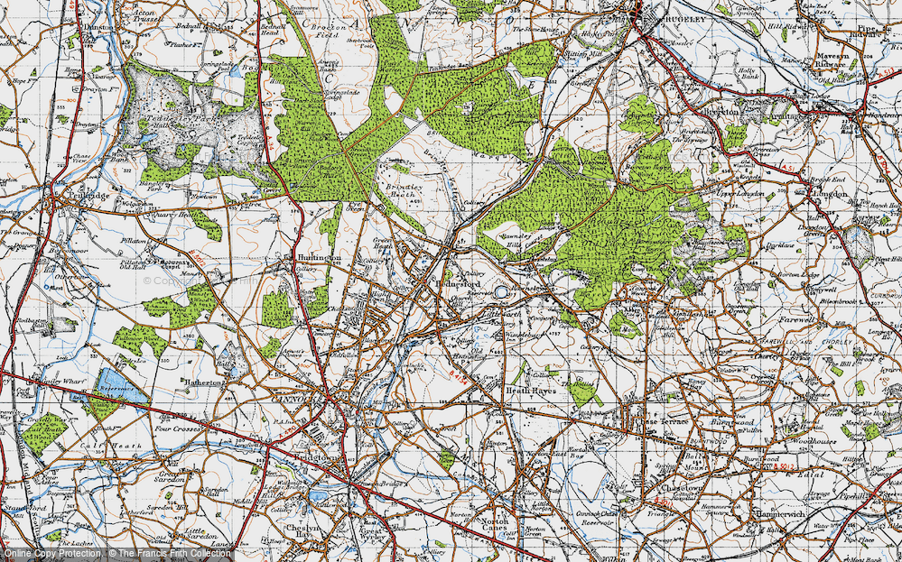 Old Map of Hednesford, 1946 in 1946