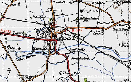 Old map of Wranglands in 1947