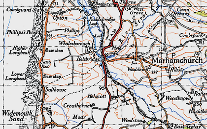 Old map of Whalesborough in 1946