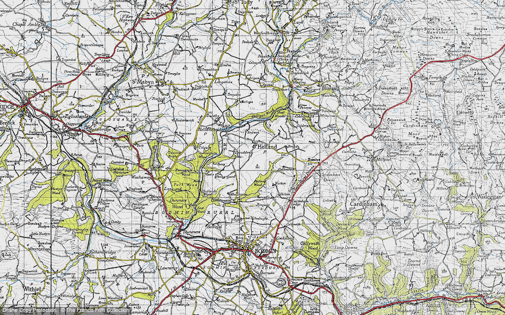 Old Map of Historic Map covering Lemar in 1946