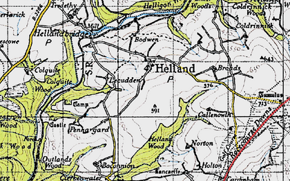 Old map of Lemar in 1946