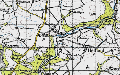 Old map of Hellandbridge in 1946