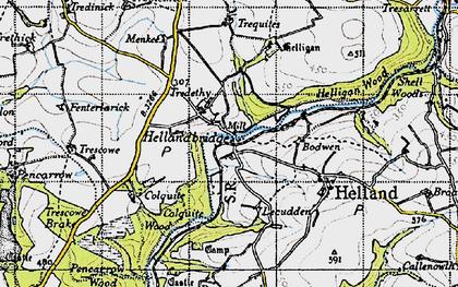 Old map of Hellandbridge in 1946