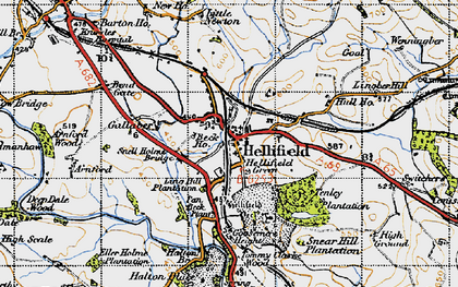 Old map of Hellifield in 1947