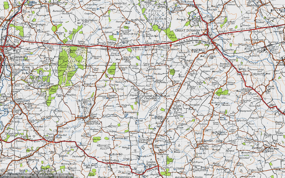 Old Map of Historic Map covering Woolard's Ash in 1946