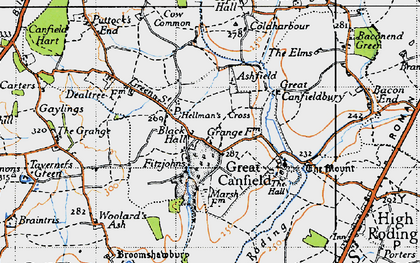 Old map of Woolard's Ash in 1946