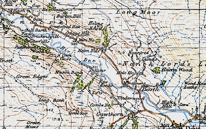 Old map of Whitbeck in 1947