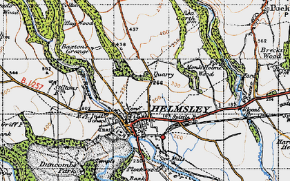 Old map of Helmsley in 1947