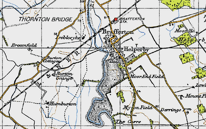 Old map of Helperby in 1947