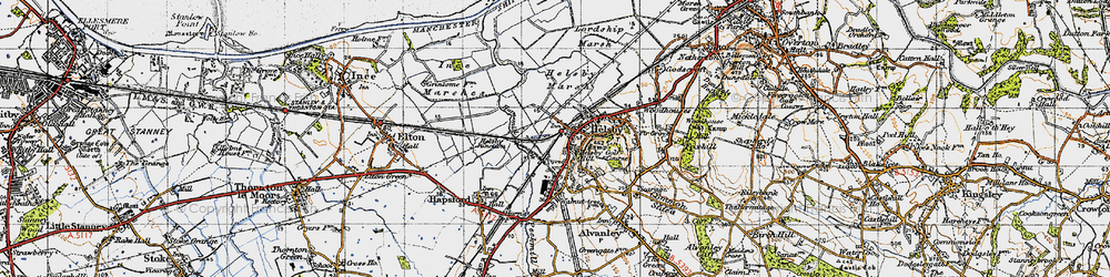 Old map of Helsby in 1947