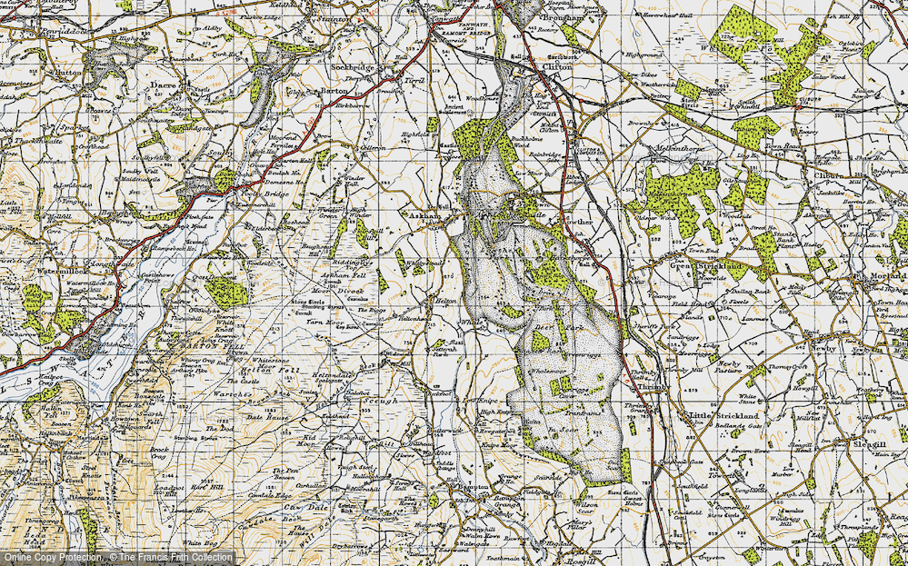 Old Map of Historic Map covering Askham Fell in 1947