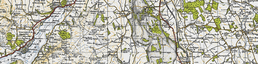 Old map of Widewath in 1947