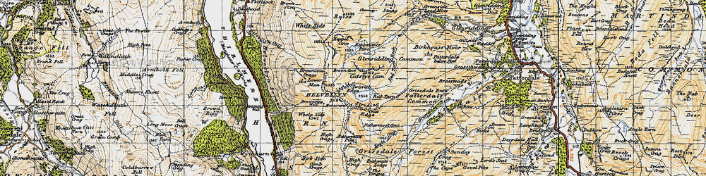 Old map of Whelp Side in 1947