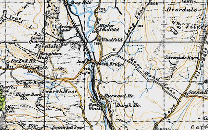 Old map of Bargh Ho in 1947