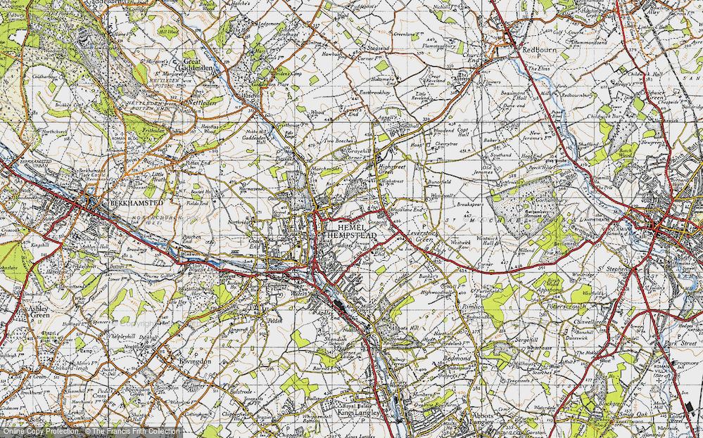Old Map of Hemel Hempstead, 1946 in 1946