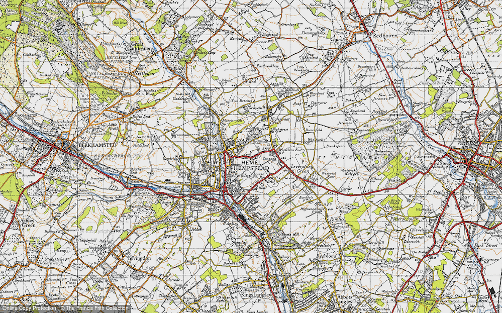 Map of Hemel Hempstead 1946 Francis Frith