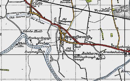 Old map of Hemingbrough in 1947