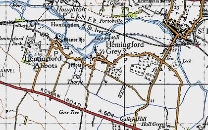 Old map of Hemingford Grey in 1946