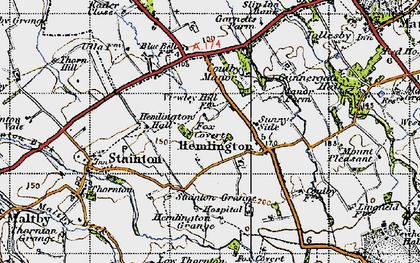Old map of Hemlington in 1947