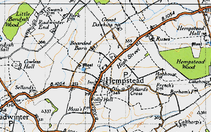 Old map of Wincelow Hall in 1946