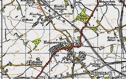 Old map of Hemsworth in 1947