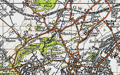 Old map of Henbury in 1946