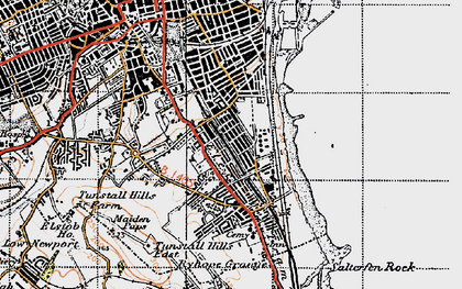 Old map of Hendon in 1947